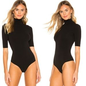 Commando Mock Neck Ballet Half Sleeve Bodysuit